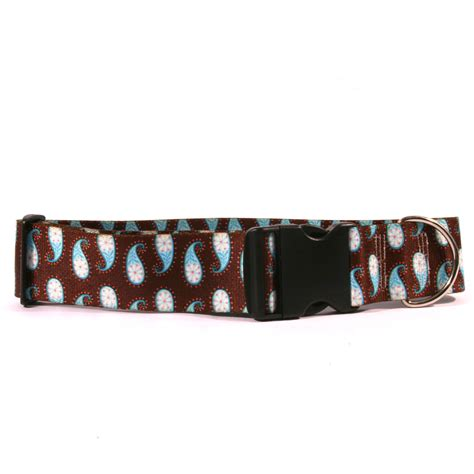 wide collars 2 inch wide brown paisley collar by yellow design