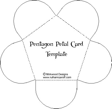 Flower Fold Card Template by Learn Template Box And Cards