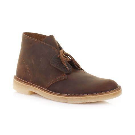 clarks desert boots mens mens clarks originals beeswax leather desert boots shoes
