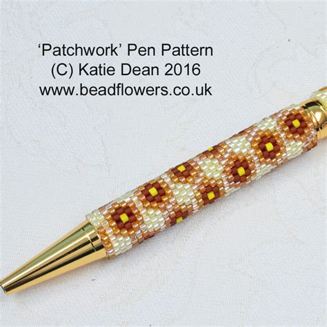 bead pen patchwork pen beading pattern by dean beadflowers