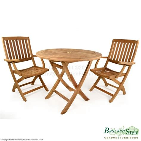 Garden Table Chairs York 2 Seater Folding Teak Garden Table Set