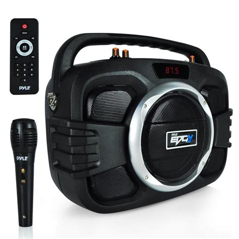 Speaker Bluetooth Voombox pyle pwma245bt home and office portable speakers boom boxes sports and outdoors