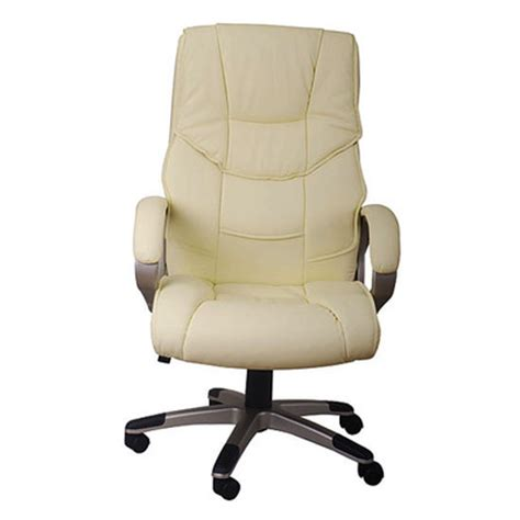 beige leather desk chair homcom executive high back pu leather office chair beige