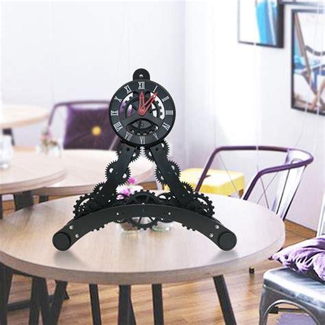 eiffel tower decoration gear clocks moving gear desk