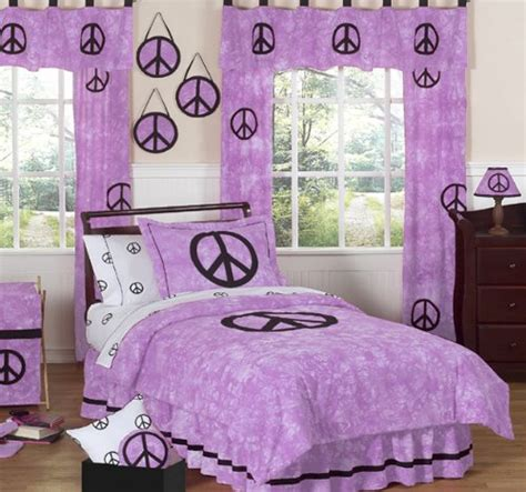 peace sign bedroom peace sign bedding for girls purple bedding sets