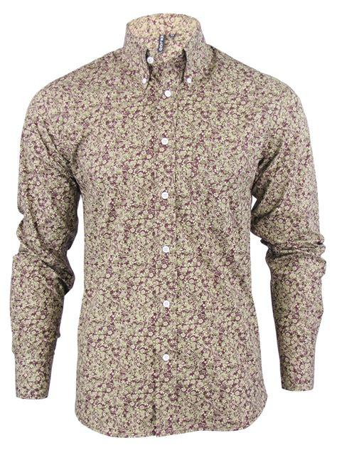 Khaki Hemd Herren by Hemd Shirt Herren Langarm S Paisley Modern Retro Kn 246 Pfe