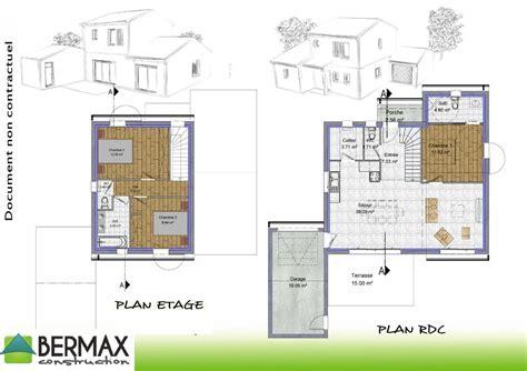 Plan Maison à étage 3983 by Plan Maison 1 Tage 3 Chambres Beautiful Plan Maison