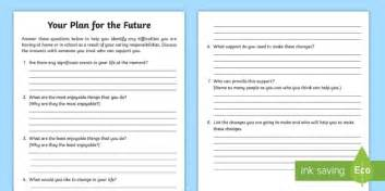 future plan template carers plan for the future planning template