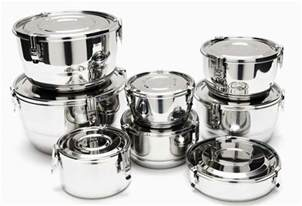 Stainless Steel Kitchen Canister Set airtight stainless steel food storage containers