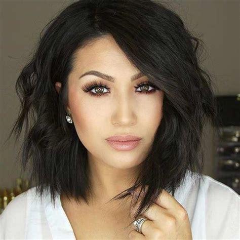 choppy lob hairstyle best 20 short dark hair ideas on pinterest short dark