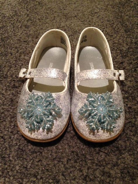 diy elsa shoes frozen s elsa shoes made these for my to