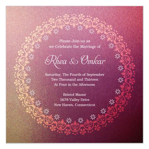electronic wedding invitation card template electronic invitation templates free templates
