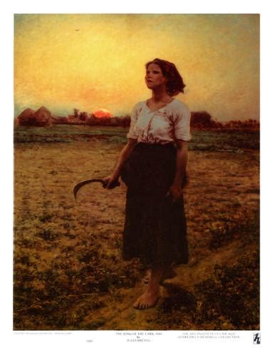Wall Murals Chicago the song of the lark print by jules breton at allposters com