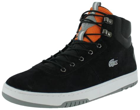 lacoste sneakers mens lacoste raggi cl men s high top sneakers shoes black size