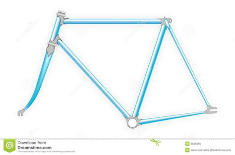 Bicycle Frame Bagpouch For Cycyling bicycle frame stock vector image of blue fixie