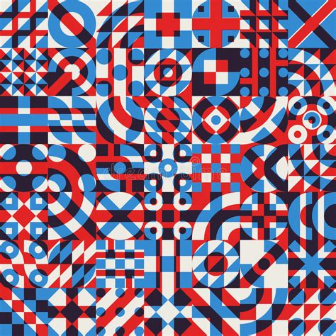abstract pattern overlay vector seamless blue red white color overlay irregular