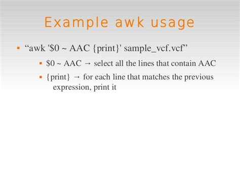 awk pattern matching exles linux intro 5 extra awk
