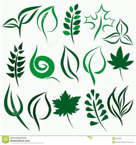 vector leaf set stock vector image of leaf foliage