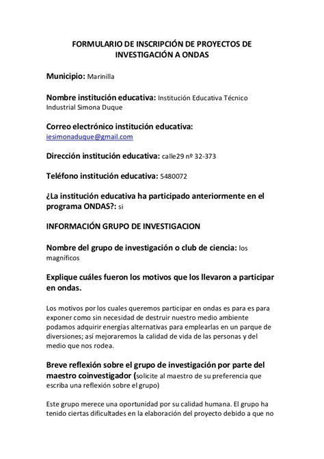 formulario de concurso de educacion 2016 formulario de concurso de educacion 2016