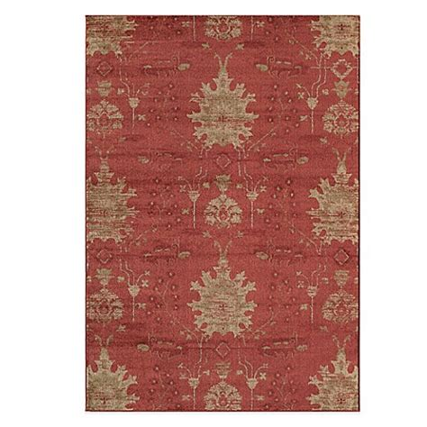 ikat bath rug buy rugs america rallye floral ikat 5 foot 3 inch accent rug from bed bath beyond