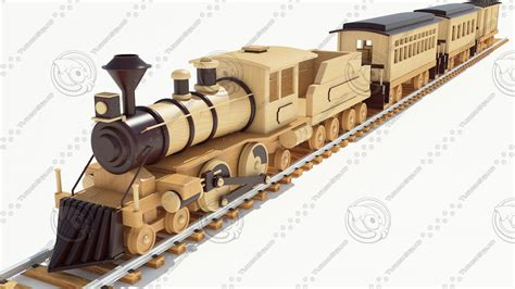 model  wood toy train