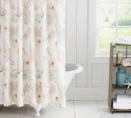 seashore shower curtain pottery barn bathroom ideas