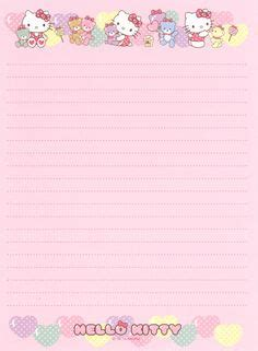 printable hello kitty notebook paper pink hello kitty stationery printable treats paper
