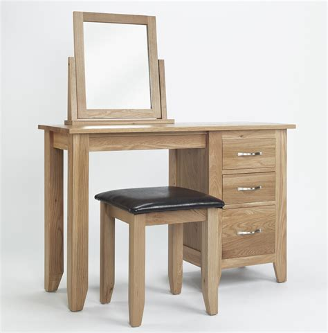 oak vanity table with mirror and bench compton solid oak bedroom furniture dressing table mirror