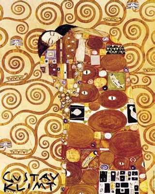 klimt essential art 0752534874 the fulfillment by gustav klimt parastone museum collection klimt couple klimt replica