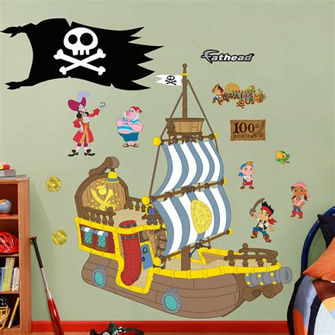 bucky the pirate ship jake and the neverland fathead wall decal