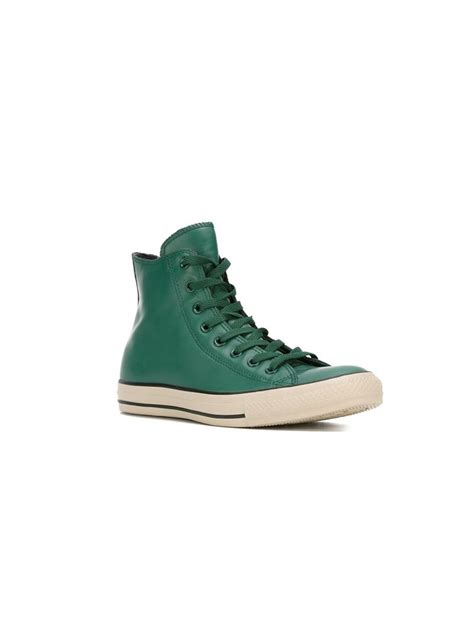 Converse High Convers Allstar converse all high top sneakers in green lyst