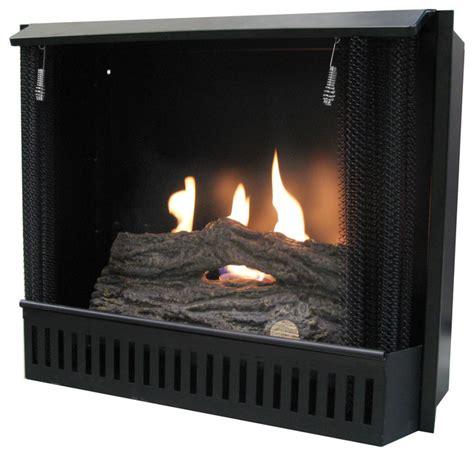 23 quot gel fuel fireplace insert traditional indoor