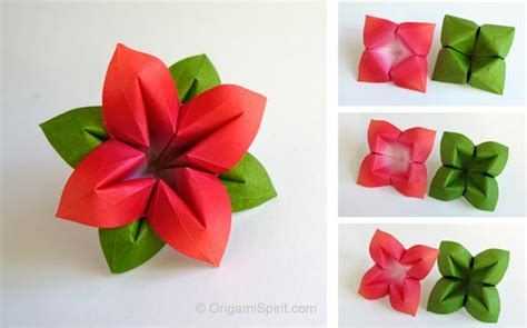 How To Make Paper Leaves For Flowers - how to make an origami flower and leaves and versatile