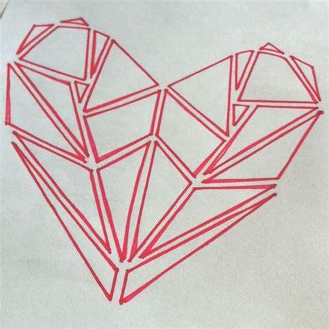 geometric tattoo ohio the 25 best geometric heart tattoo ideas on pinterest