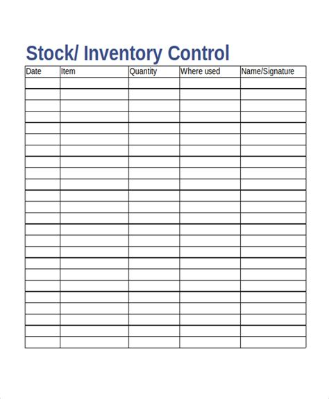 inventory card template 17 inventory templates free sle exle format