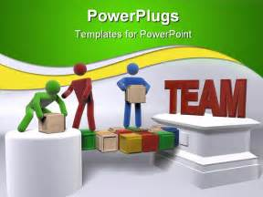 Team Building Powerpoint Presentation Templates powerpoint template teamwork metaphor with 3d