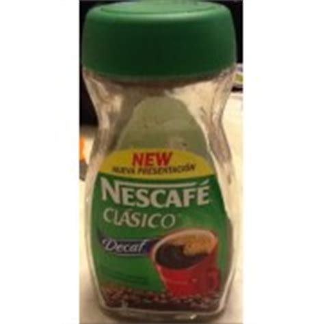 Nescafe Clasico Decaffeinated Coffee: Calories, Nutrition Analysis & More   Fooducate