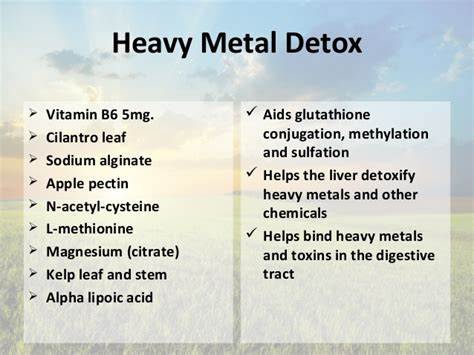 Magnesium Heavy Metal Detox by Aug Liver Detoxification