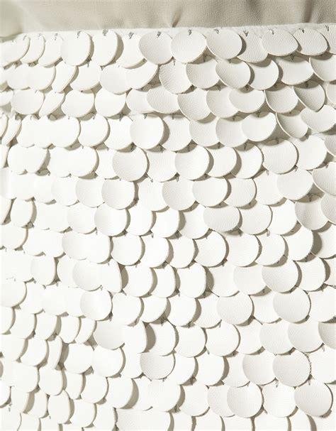 Bag Zara Premium Sag4109 zara skirt with leather paillettes in white lyst