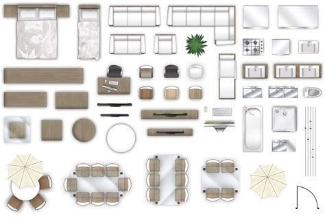Furniture Floorplan Top Down View Psd Model Floor Plan