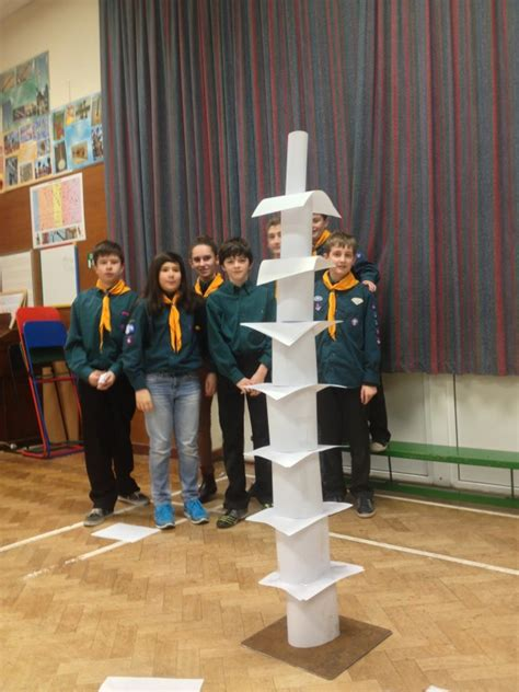 How To Make A Paper Tower - tallest paper tower challenge january 2014 1st