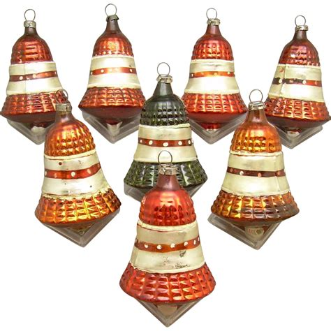 8 vintage glass bell christmas ornaments sold on ruby lane