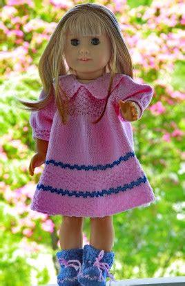 Eline Dress El2640 Blue dollknittingpattern 0045d eline dress pant and socks crafting knitting baby and child