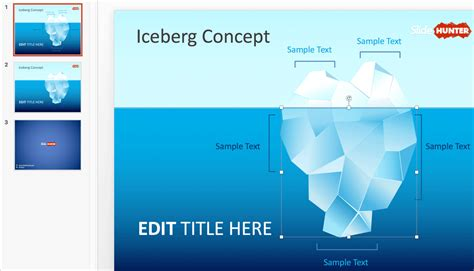 Slidehunter Com Make Delightful Presentations With Free Powerpoint Templates July 2018 Wg Iceberg Powerpoint Template