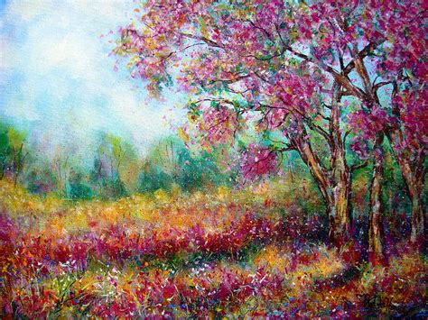 spring paint spring painting by natalie holland