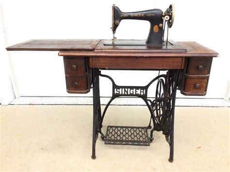 vintage singer sewing machine model 66 antique cast iron