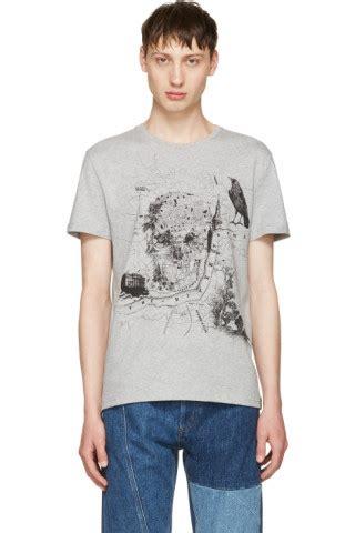 B W Map Tshirt This Is Indonesia mcqueen grey map t shirt ssense