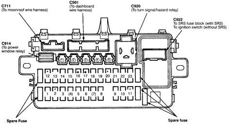 1995 honda civic fuse box diagram honda vtx parts diagram