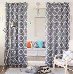 Grey Trellis Curtains Set Of 2 Modern Gray Room Darkening Geometric Trellis Curtain Panels Drapes 84 Quot Ebay