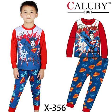 Piyama Boy Superman cool superman costume boys pajama sets sleeve